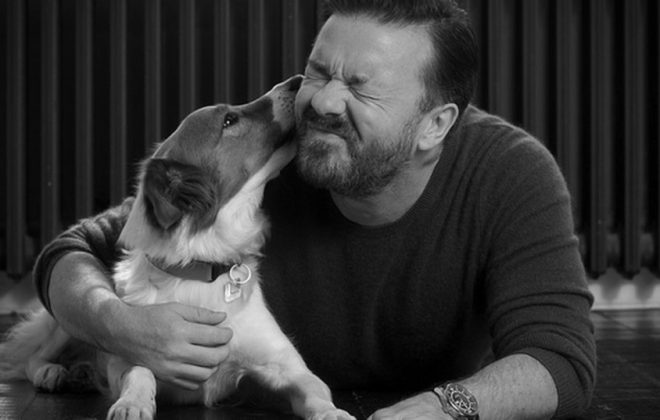 Ricky-Gervais-with-dog 2
